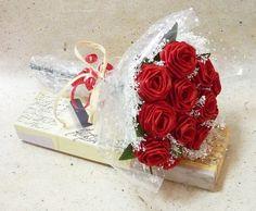 b9a9a5a65 Origami 'Be Mine' Rose Bouquet 1 Dozen Gift by TheWhiteBouquet Origami  Bouquet, Origami