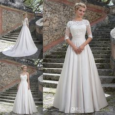 High Quality Elegant Winter Wedding Dress A Line Strapless Sweetheart Satin Wedding Dresses with Half Sleeve Lace Appliques Jacket Bolero