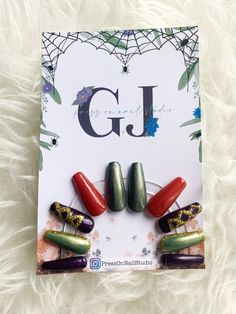 Hocus Pocus inspired press on nails I put a spell on you | Etsy Halloween Press On Nails, Hocus Pocus, Marketing And Advertising, Acrylic Nails, Craft Supplies, Hand Painted, Inspired, Handmade Gifts, Inspiration