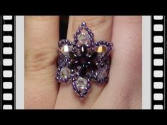 Easy Beaded Flower Ring Beading Tutorial by HoneyBeads (Video tutorial) - YouTube