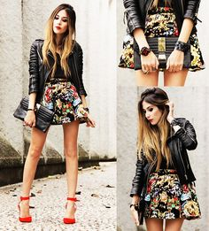 Boda Skins Jacket, Dapper Diction Clutch, Haute & Rebellious Shoes
