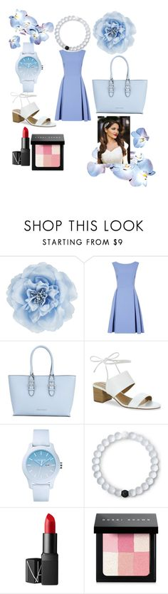 """Baby blue"" by peacock-style ❤ liked on Polyvore featuring Monsoon, Armani Jeans, Tahari, Lacoste, Lokai, NARS Cosmetics, Bobbi Brown Cosmetics and Gatsby"