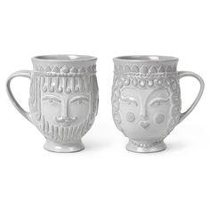 Modern Pottery | Utopia Reversible King/Queen Mug | Jonathan Adler $28