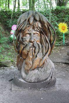 Green Man Sculpture