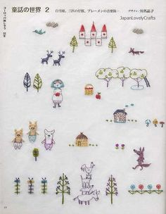[ B o o k . D e t a i l s ] Language: Japanese Condition: Brand New Pages: 120 pages in Japanese Date of Publication: 2010/11 Item Number: 799-8  Japanese embroidery patterns book. Great book for learning basic techniques of various stitches. Also you can enjoy super kawaii animal, fairy tales themed 350 patterns.  [ C o n t e n t s ] ♥ European Embroidery: 15 stitches * Fairy Tales World 1 * Fairy Tales World 2 * Tea Party in the Forest * Birds Mansion * Seasonal Motif 1 * Seasonal Motif 2…