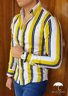 Mens Casual Dress Outfits, Formal Men Outfit, Funky Outfits, Business Casual Outfits, Indian Men Fashion, Mens Fashion Suits, Slim Fit Casual Shirts, Men Casual, Funky Shirts