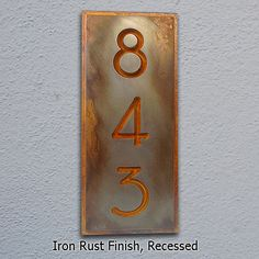 Vertical Address Plaque Craftsman, Bungalow, Arts and Crafts x up to 3 House Numbers Stone Mailbox, Metal Mailbox, Traditional House Numbers, Ceramic House Numbers, Iron Rust, Dragonfly Decor, Address Plaque, Address Signs, House Number Plaque