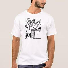 Scientist in Lab Coat Mixing Chemicals T-Shirt