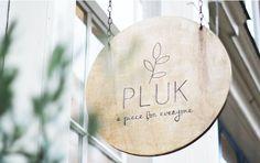 Signage for Pluck - font Wayfinding Signage, Signage Design, Branding Design, Cafe Signage, Deco Restaurant, Restaurant Design, Logo Velo, Logo Café, Logo Boutique