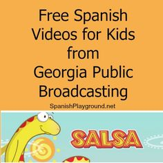 Free Spanish videos for kids: Spanish for elementary students. 42 video lessons designed for kindergartners through third grade, all available to watch online. Each video tells a story but also focuses on specific Spanish vocabulary, and has support materials http://spanishplayground.net/free-spanish-videos-salsa/