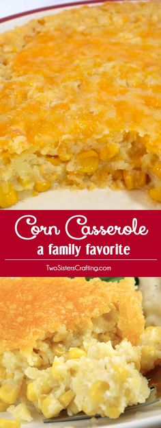 "Our Corn Casserole recipe is a family favorite Easter food side dish - this sweet-savory, corn bread ""like"" dish is super delicious and very easy to make. It will be one of your family's favorite Holiday Foods. Pin this yummy side dish for later and follow us for more Easter Dinner Food Ideas. #EasterDinner #CornCasserole #SideDish #Corn"