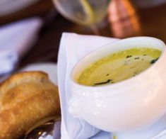 Saltscapes Food & Drink - Creamy Fiddlehead Soup by Marie Nightingale  - www.saltscapes.com