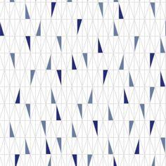 Tapete RATIO blau - BORAS Wallpaper -