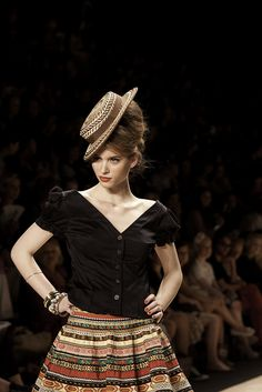 "Fashionweek spring/summer 2012 Fashionshow ""Lena Hoschek"" am 06.07.2011 by MKPRESSBERLIN, via Flickr"
