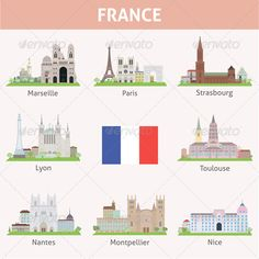 France Symbols of Cities