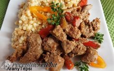 Bácskai csirkemáj Hungarian Cuisine, Grains, Rice, Beef, Dishes, Food, Google, Liver Recipes, Meat