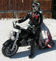 Hey, I found this really awesome Etsy listing at https://www.etsy.com/listing/108816128/zombie-cake-topper-motorcycle-custom