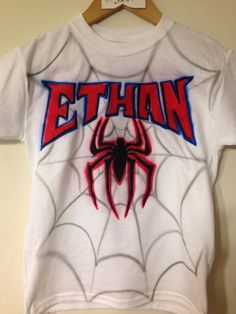 bc6d4d7d97e2f1 Personalized Kid s Spider-Man Airbrushed T-shirt by MpressArt
