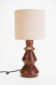 4040 Locust Turned Wood Lamp Base - Urban Outfitters