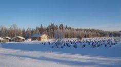 Art work in Suomussalmi, Finland. The idea of the dancer Reijo Kela.  Hiljainen kansa -taideteos lumivaipan alla tammikuussa 2014.