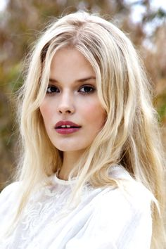 beautiful blonde with rosy cheeks and lips #beauty #makeup #hair