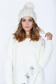Popcorn #Knitted Hat #Beanie