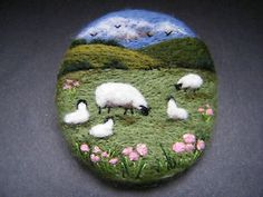 Handmade-needle-felted-brooch-Gift-In-the-May-Meadow-by-Tracey-Dunn