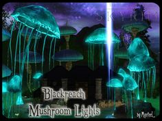 Giant Mushrooms Lights Miniset by Murfeel - Sims 3 Downloads CC Caboodle