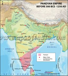 Map of Pandyan Dynasty
