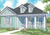 Country style house plan rendering