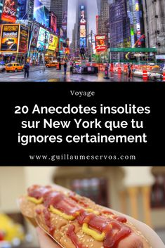 New York : 20 anecdotes insolites que tu ignores - Guillaume Servos Washington Square Park, New York Times, Empire State Building, Times Square, Voyage New York, Nyc, Central Park, Hot Dogs, Boston