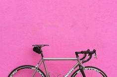 Pretty bike, pretty wall.