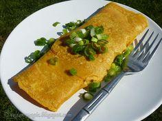 Eggless Chickpea Omelette by veganmagic Vegetarian Brunch Recipes, Vegetarian Breakfast, Delicious Vegan Recipes, Lunch Recipes, Vegan Vegetarian, Healthy Recipes, Chickpea Omelette, Vegan Omelette, Lactose Free Recipes