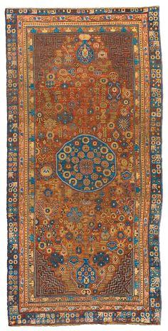 Vintage Rugs: Vintage Rug Samarkand rug for modern or oriental interior decor living room, rug with geometric pattern