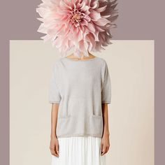 Anneclaire lookbook: Digital collage fashion illustration with flowers