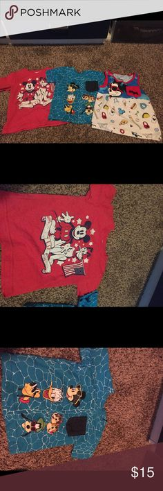 Disney Mickey Mouse Lot All EUC size 18mo Disney Shirts & Tops Tees - Short Sleeve