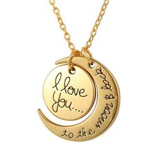 This gorgeous pendant is sure to be a treasured, a simple reminder of how much you are loved or to express your love. For mums, grandmas, girlfriends or anyone else who deserves a fine piece of jewellery. May that person is you? http://amoshjewellery.com.au/shop/necklace-pendants/antique-necklaces/love-you-to-the-moon-necklace/id=9999