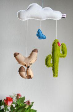 """Mobile - Mini Mobile """"Kleiner Wüstenfuchs"""" - ein Designerstück von stierkind bei DaWanda"""