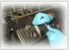 BLOCK PREPARATION:  A complete visual inspection of the block is performed. #Car #Auto #EngineRebuild #Engine