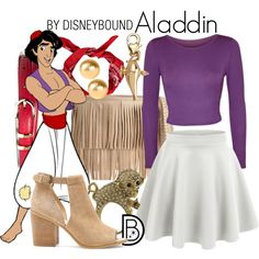 Aladdin by leslieakay on Polyvore featuring WearAll, LE3NO, Sole Society, B-Low the Belt, Miso, Disney, Snö Of Sweden, Brooks Brothers, disney and disneybound