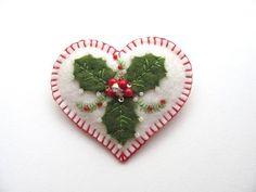Felt+Winter+Heart+by+Beedeebabee+on+Etsy,+$20.00