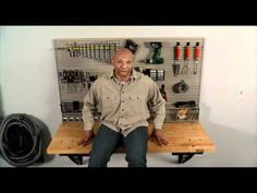 Folding Garage Workbench | Space Saver | Bench Solution