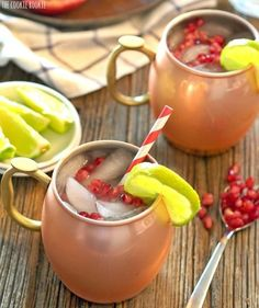 Get the holiday party started with Pomegranate Moscow Mules
