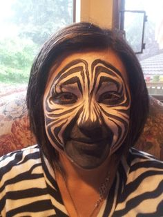 Zebra face paint