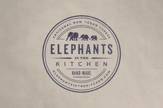 in the Kitchen - Brand Identity by Bluerock Design Elephants in the Kitchen - Logo by Bluerock DesignElephants in the Kitchen - Logo by Bluerock Design Typography Logo, Graphic Design Typography, Logo Branding, Branding Design, Design Logos, Restaurant Branding, Business Branding, Restaurant Design, Kitchen Logo