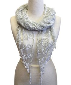 Look what I found on #zulily! Gray Paisley Lace Scarf by East Cloud #zulilyfinds