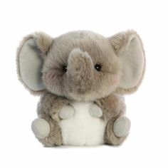 Trumpeter the Elephant Stuffed Animal Rolly Pet by Aurora – Monkey Stuffed Animal Elephant Stuffed Animal, Sewing Stuffed Animals, Cute Stuffed Animals, Homemade Stuffed Animals, Stuffed Animal Patterns, Cute Animals, Stuffed Toys, Cute Plush, Cute Toys