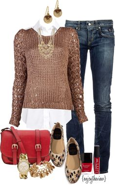 """""""camel & red w/ leopard"""" by enjoytheview on Polyvore"""