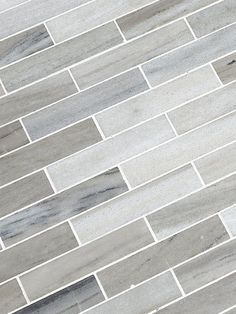 BA1034 White gray some brown tones modern subway marble kitchen backsplash tile from Backsplash.com
