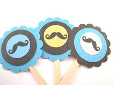 Mustache cupcake toppers instead?